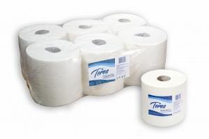 Полотенца бумажные 2-слойные со съемной втулкой