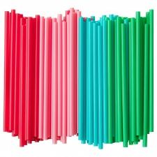Трубочки для коктейля прямые  d=8мм, L=240мм, 250шт/упак