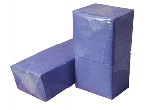 Салфетки синие 1-слойные