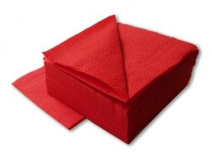 Салфетки красные 1-слойные