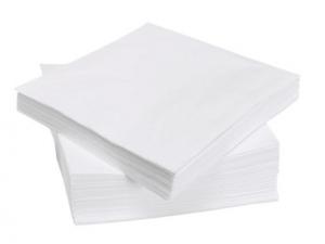 Салфетки двухслойные белые 33х33