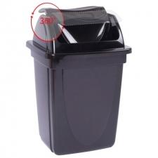 Корзина для мусора с вращающейся крышкой 12л