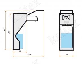 Локтевой дозатор для жидкого мыла Ksitex SM-1000