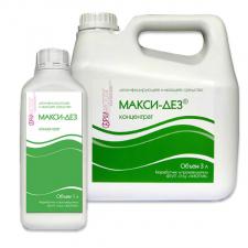 Дезинфицирующее  и моющее средство Макси-дез