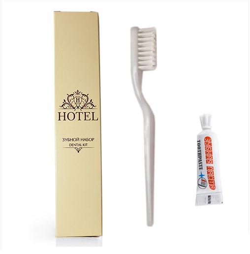 Одноразовый зубной набор в картонной упаковке