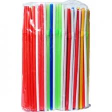 Трубочки для коктейля гофрированные  d=5мм, L=210мм, 250шт/упак