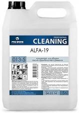 Средство для уборки после строительства и ремонта Alfa-19 (альфа 19)