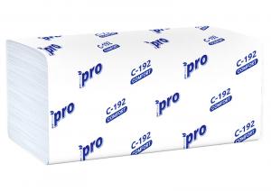 Полотенца бумажные листовые PROtissue V сложения Comfort однослойные, 25 гр, С192