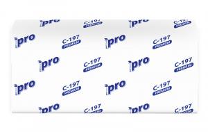 Полотенца бумажные листовые PROtissue V сложения Premium двухслойные С197