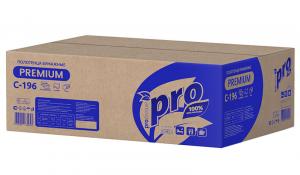 Полотенца бумажные листовые PROtissue Z сложения Premium двухслойные С196