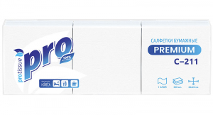 Салфетки бумажные 1-слойные 24х24 белые 500шт