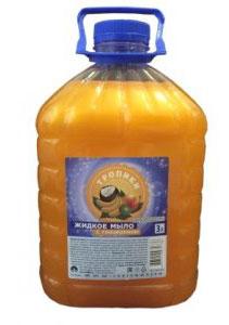 Мыло жидкое с глицерином Тропики 3л