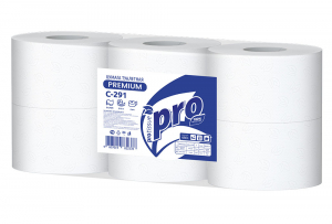 Туалетная бумага PROtissue Premium с центральной вытяжкой C291