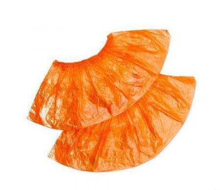 Бахилы экстра с двойной резинкой оранжевые