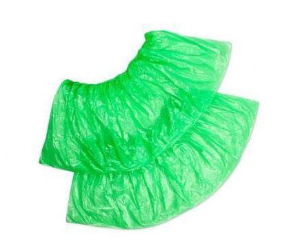Бахилы экстра с двойной резинкой зеленые
