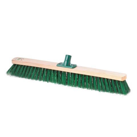Щетка для уборки техническая, ширина 60см, щетина 6,5 см, деревянная, еврорезьба