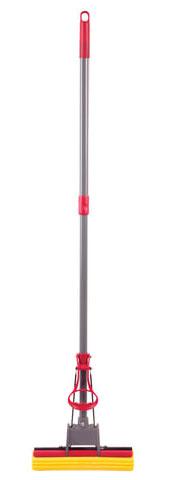 Швабра самоотжимная, роликовый отжим, насадка PVA 27 см, телескопический черенок 125 см, ЛАЙМА