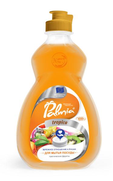 Гель для мытья посуды Palmia Tropica, ПЭТ, 0.45 л