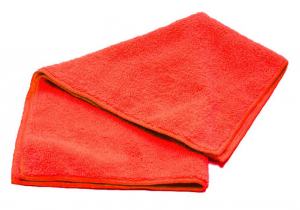 Тряпка для пола микрофибра 50х60, 220гр/м2 (красная) б/упак