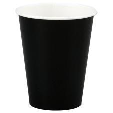 Стакан бумажный однослойный черный