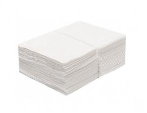 Салфетки 20х20см  Спанлейс 40гр белые 100шт