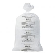 Мешки для мусора медицинские, 70*80см, 80л, 16мкм, класс А (белые)
