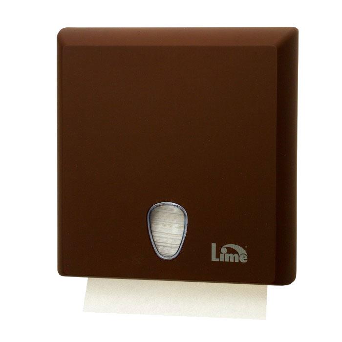 Диспенсер Lime для полотенец Z-сложения коричневый A70610EMS