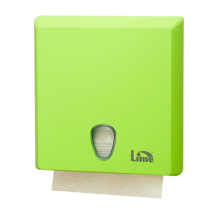 Диспенсер Lime для полотенец Z-сложения зеленый A70610EVS