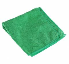 Салфетка микрофибра 30х30, 220гр/м2 (зеленая) б/упак