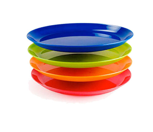 Тарелки пластиковые цветные