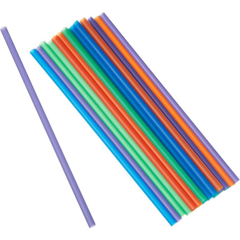 """Трубочки прямые цветные """"MILK"""", d=8мм, L=240мм, 250 шт /упак"""