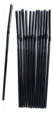 Трубочки для коктейля черные в индивидуальной упаковке, гофра, d=5мм, L=210мм, 250шт/упак