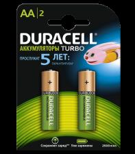 Аккумуляторы Duracell turbo AA