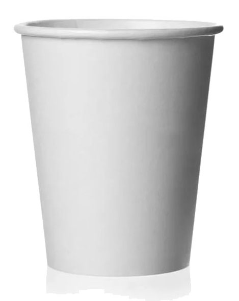 Стакан бумажный однослойный белый 175мл