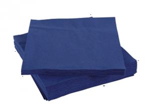 Салфетки 2-слойные 33х33 синие